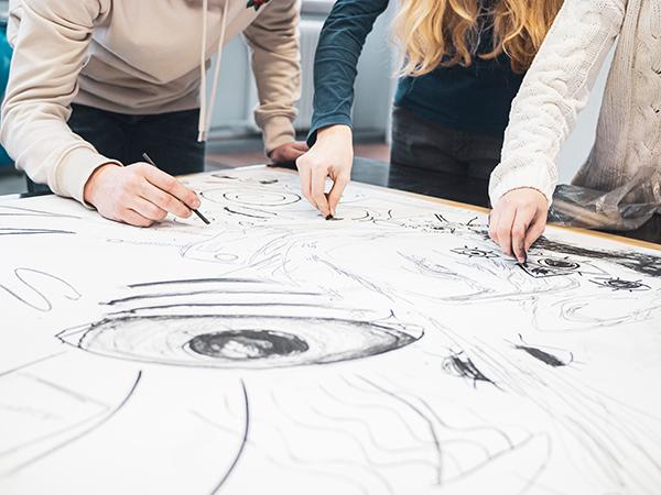 Atelier 1318, Offenes Atelier, Zeichnen