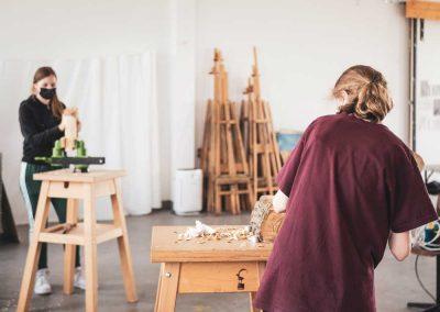 Atelier 1318, Offenes Atelier, Bidhauerei