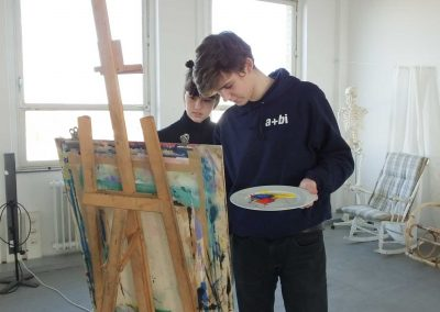 Atelier 1318, Malerei
